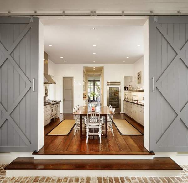 25 fashionable interiors: charming sliding doors for pantry in the kitchen