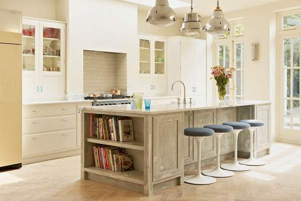 50 ways to create a stylish kitchen island with open shelves