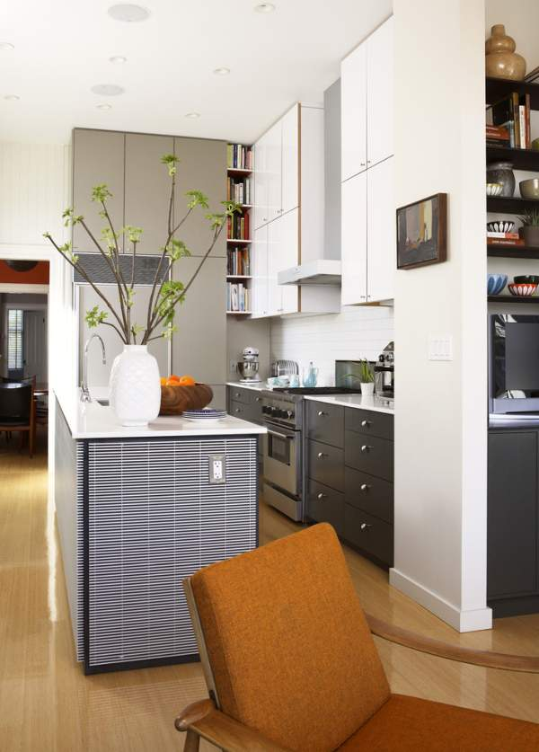 Black kitchen in the interior - fashionable, expressive, stylish