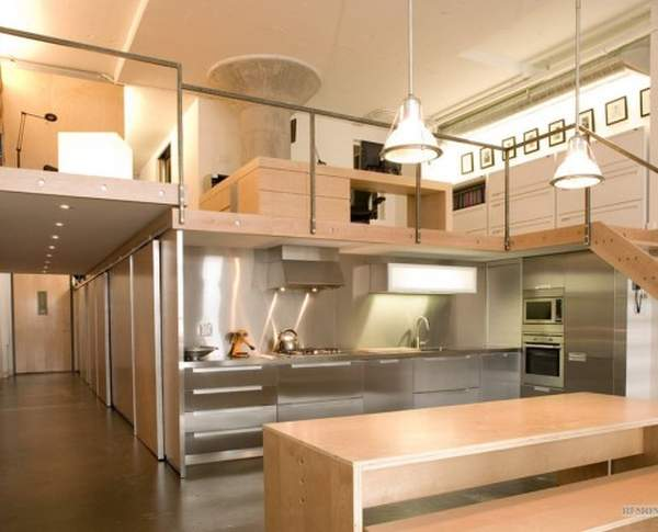 Fresh idea: kitchen combined with a corridor