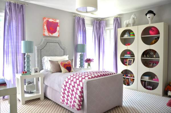 Half a hundred ideas for a young lady's bedroom