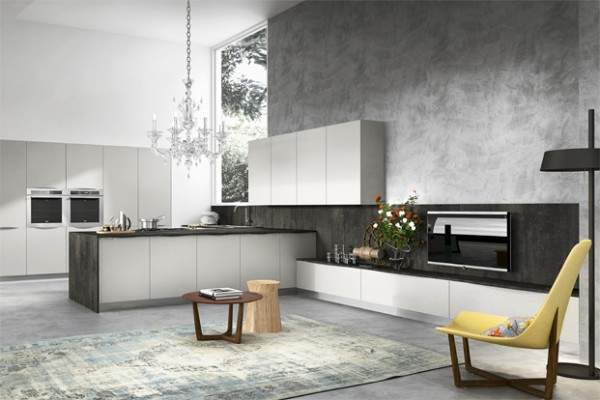 How does the Italian kitchen design make the kitchen unique?