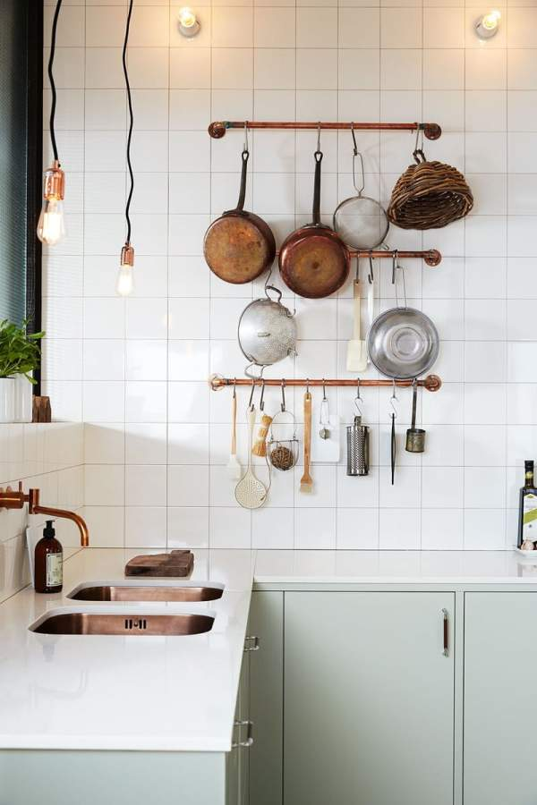 How to recreate the Scandinavian style in the interior of the kitchen?