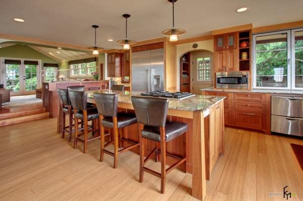 Ideas for kitchen design in a country house