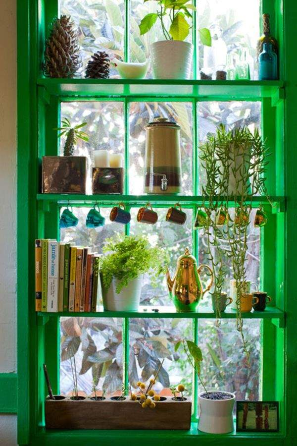 Inspiring design of the kitchen window, which will conquer absolutely all