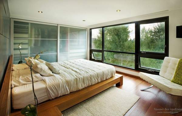 Interior and design of a modern bedroom