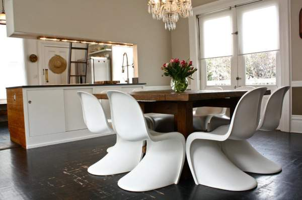 Original chairs for the kitchen in the photo of real interiors