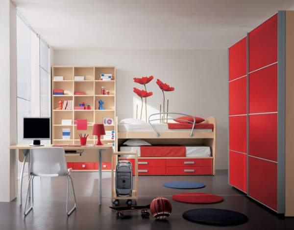 Style functionality in the youthful interior - a wonderful design of the interior of children's rooms for teenage boys - photo selection
