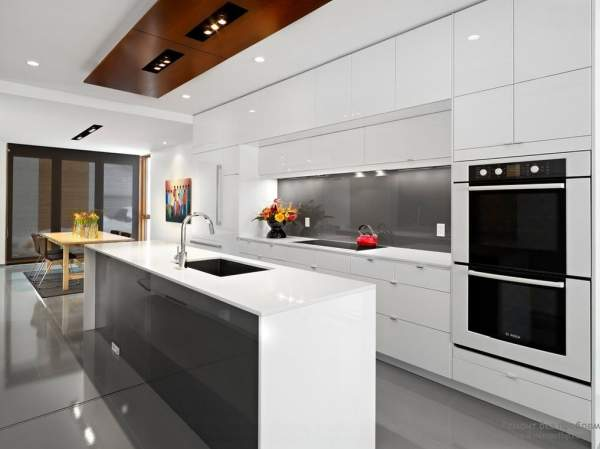 Stylish interior of modern kitchen