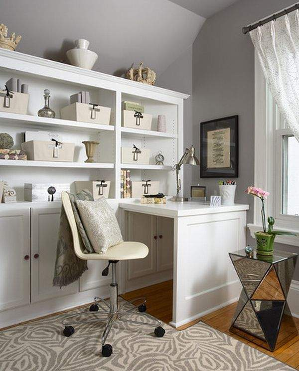 20 Trendy Ideas For A Home Office With Skylights: Small Home Office Ideas. Room Design For Small Spaces. 20