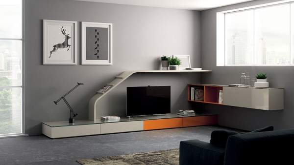modern modular systems for the living room: out of the excess