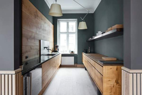 Non Standard Interiors Of Kitchens Without Upper Cabinets Interior