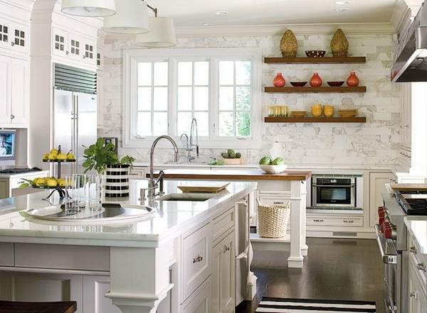 Old kitchen gets a new look - white color as a win-win ...