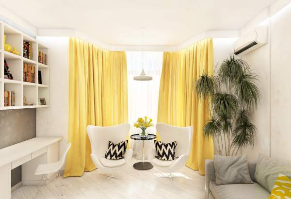 Contemporary Curtains Yellow